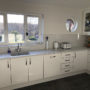 Gloss White Kitchen with Quartz Worktop